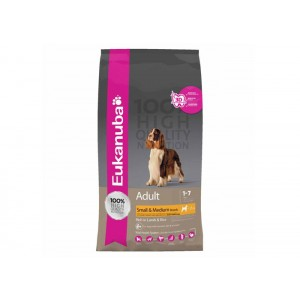 Eukanuba Adult Small & Medium Breed Lamb & Rice 12 Kg