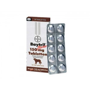 Baytril Flavoured 150 mg x 20 tbl